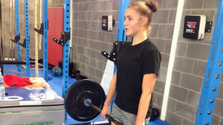 BICEP BUILDING: Georgia Stanway already prepping for March!