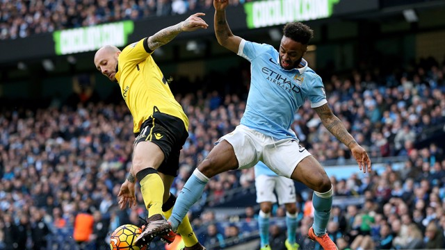 SHALL WE DANCE? Raheem Sterling in action