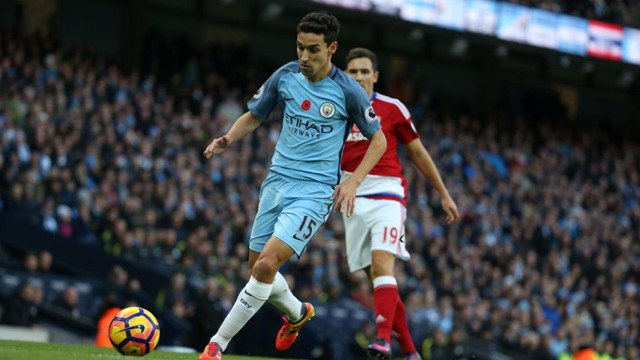 NAVAS: City's Spanish winger was heavily involved