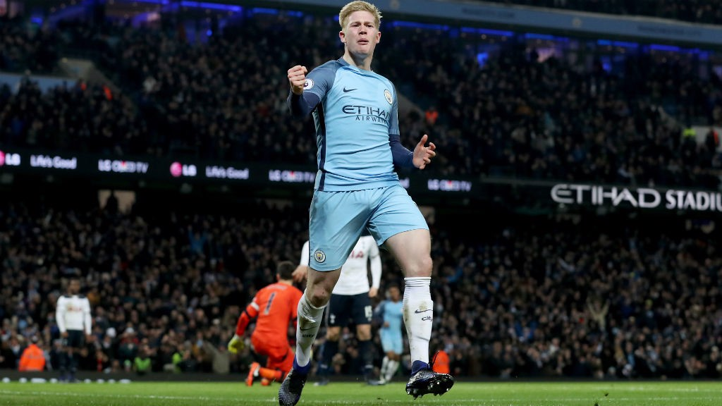 BACK IN THE GOALS: Kevin De Bruyne