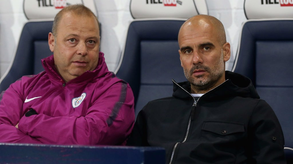 WATCHING BRIEF: Pep Guardiola looks on from the sidelines