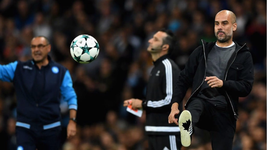 BOOTIFUL: Pep Guardiola shows he has lost none of his skill