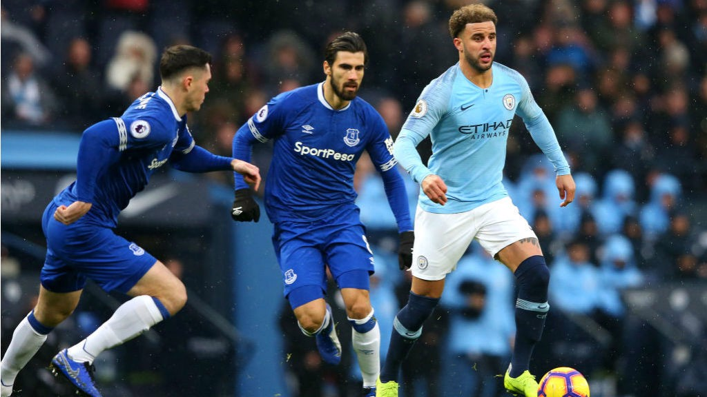 SPECIAL K: Kyle Walker looks to get City on the front foot
