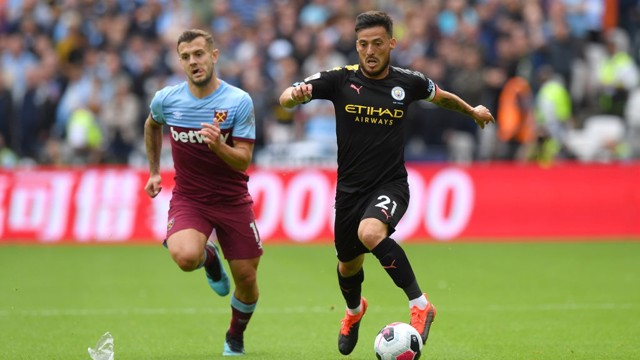 LEADER: David Silva orchestrates proceedings from midfield.