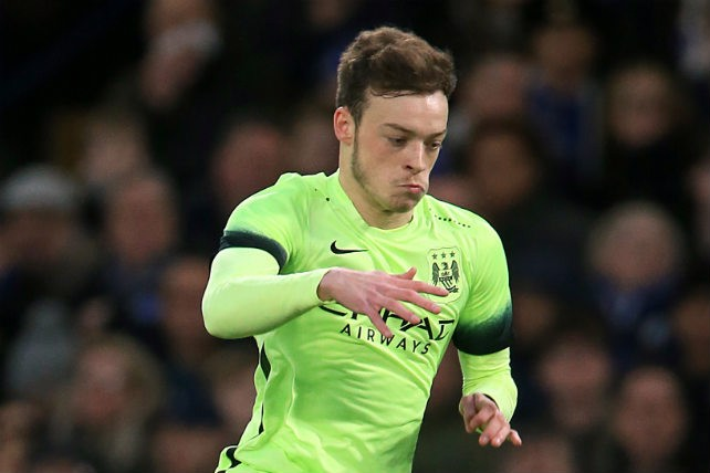 BARKER: The winger attempts to beat his man at Chelsea