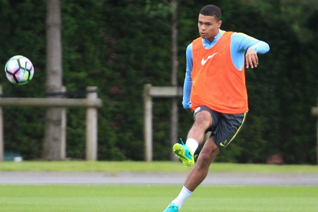 STRIKE: Humphreys hits the ball well during training