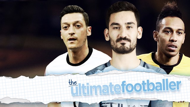BALLER: Sergio Aguero, David Silva, Mesut Ozil and Pierre-Emerick Aubameyang make Ilkay Gundogan's ultimate footballer.