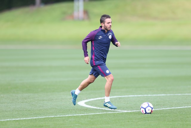 SILVA SERVICE: Bernardo completed his first training session at the CFA today