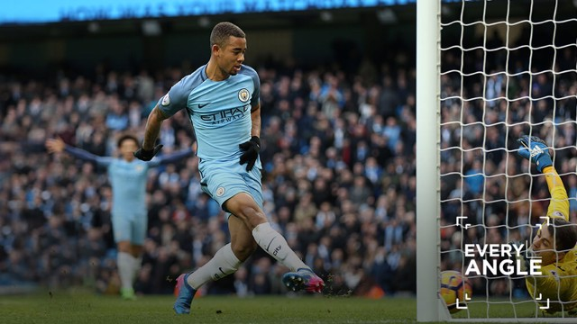 Gabriel Jesus - Every Angle, Man City v Swansea
