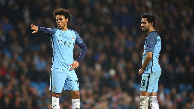 GERMAN DUO: Leroy Sane and Ilkay Gundogan.