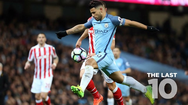 SERGIO SALVO: Aguero in action against Stoke