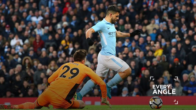 GOAL MACHINE: Aguero bagged two to launch a brilliant FA Cup comeback victory over Burnley