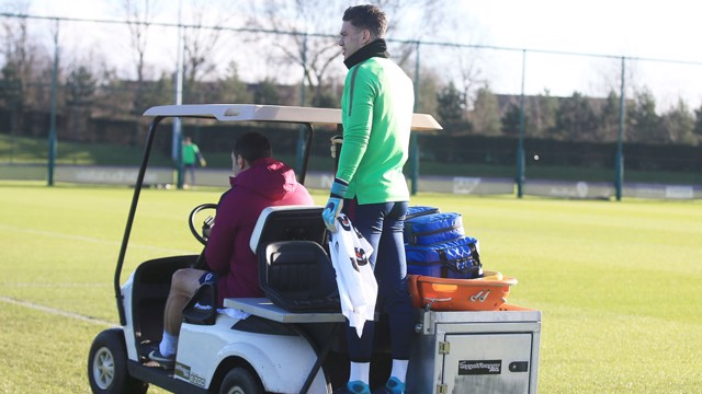 CUP FEVER: The City squad were out on the training field earlier today preparing for Sunday's FA Cup game