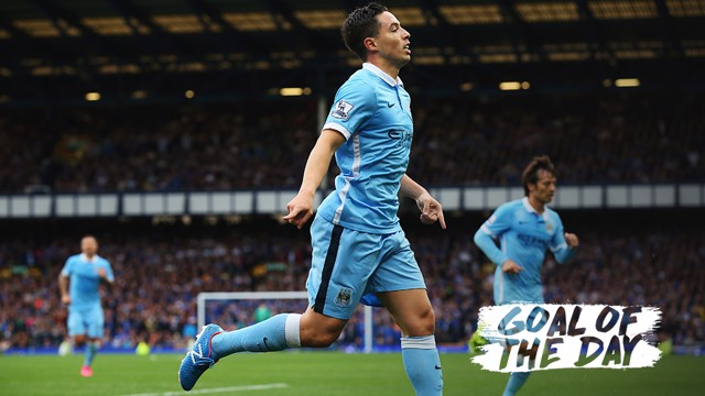 Goal of the Day | Samir Nasri lifts it over the keeper to secure the win for City against Everon