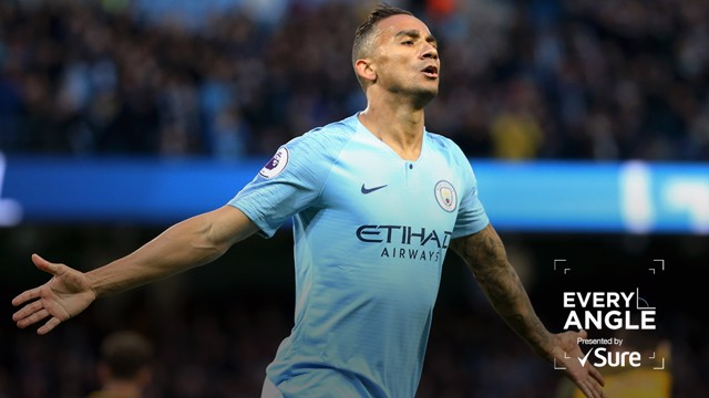 EVERY ANGLE: Watch Danilo's goal against Brighton from all the vantage points inside the Etihad