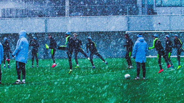 WINTER WONDERLAND: Tuesday training at the CFA