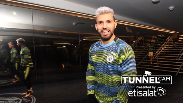 Tunnel Cam captures Sergio Aguero behind the scenes after City's all-important win over Liverpool